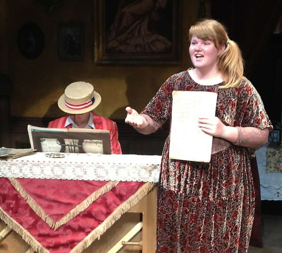 """Young Kitty Turner (Erika March, right) rehearses her big number in the parlor of her mother's theatrical boarding house in Laurence Carr's """"Vaudeville"""" at Willows Campbell Theatre in Martinez Photo: Willows Theatre Company"""