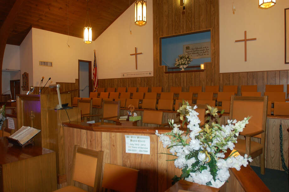 The sanctuary of Mt. Olive Baptist Church, which is celebrating its 100th anniversary this year. Photo: Jimmy Galvan/Newsboy