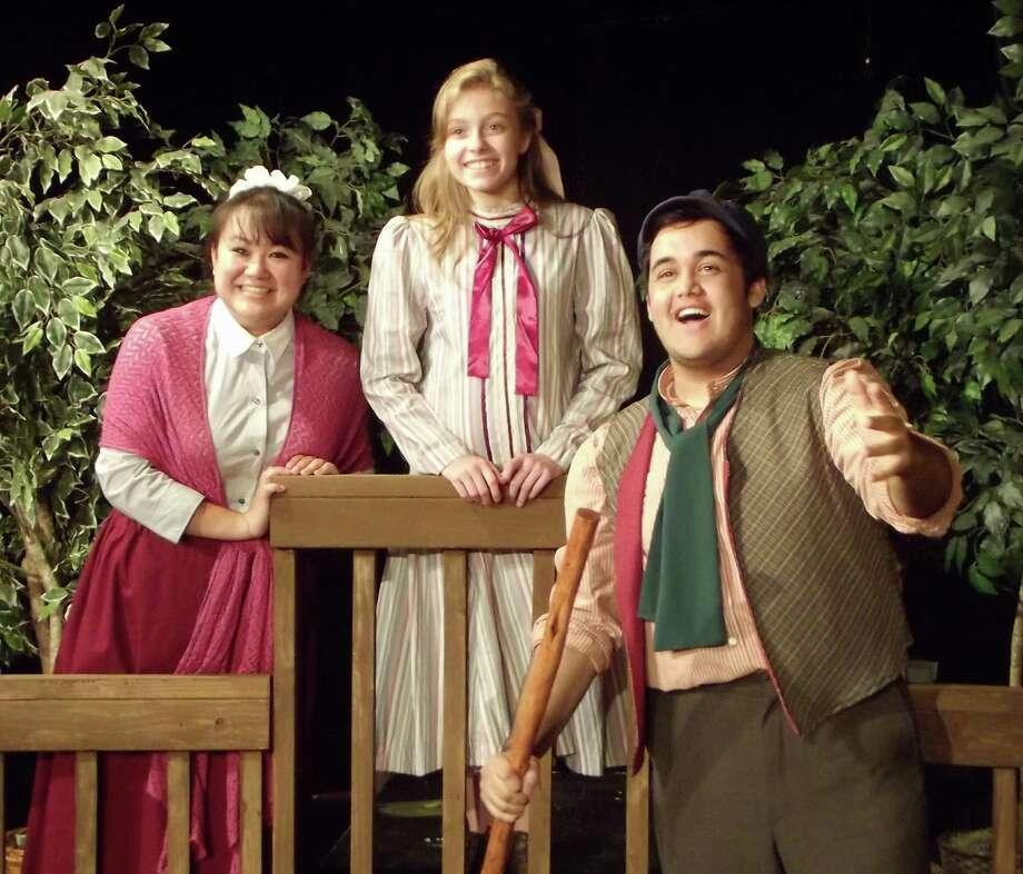 "Jenn Harris (from left), Andrea Varnado and Gerardo Vallejo star in ""The Secret Garden.""  Photo: Courtesy, Gretel Campbell"