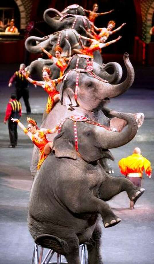 An image from Fully Charged, the 2012 edition of the Ringling Bros. Circus. Photo: Courtesy Photo