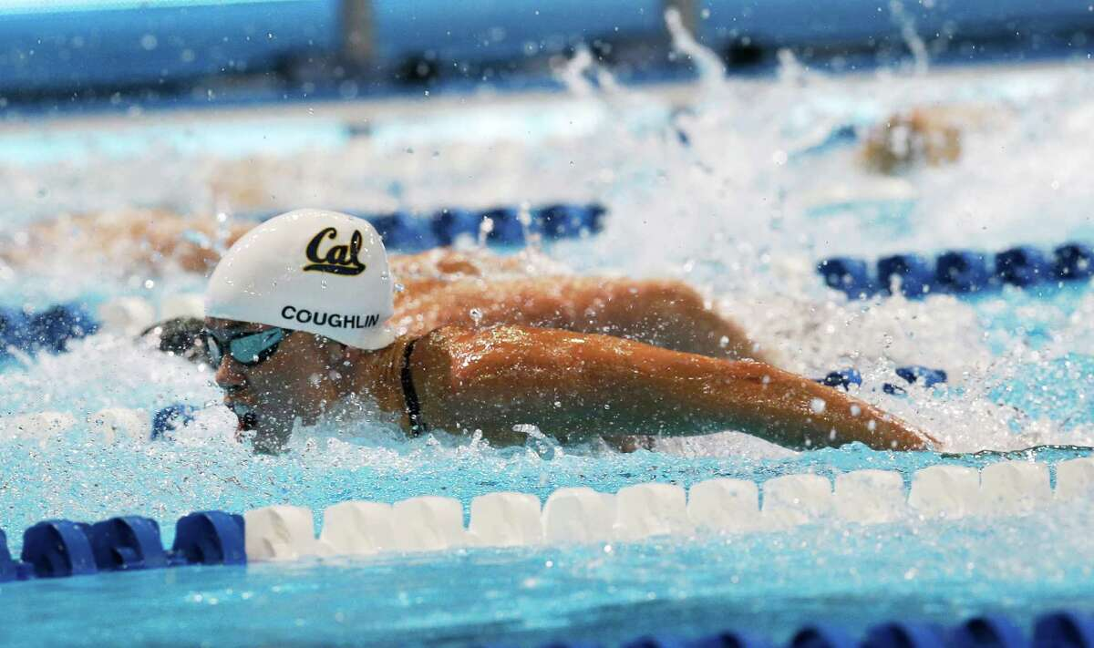 Natalie Coughlin swims in the women's 100-meter butterfly semifinals at the U.S. Olympic swimming trials, Monday, June 25, 2012, in Omaha, Neb. (AP Photo/David Phillip)