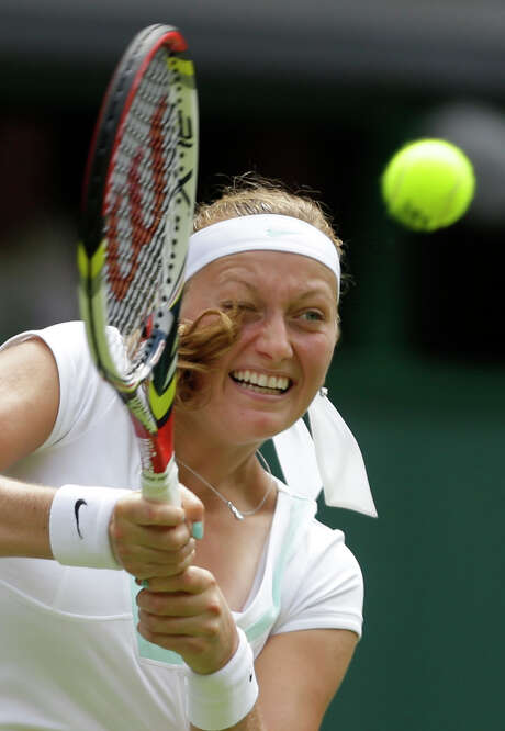 Defending champion Petra Kvitova advanced to the second round with a straight-sets win. Photo: AP