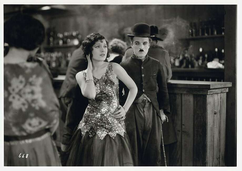 "Charlie Chaplin and Georgia Hale in a scene from his 1925 film ""The Gold Rush."" Photo: Courtesy, SF Symphony"