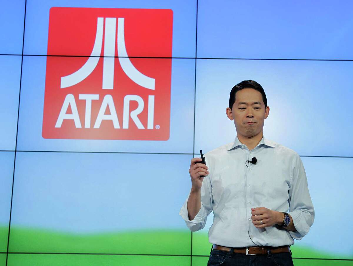 David Ko, Zynga Chief Mobile Officer, talks about their association with Atari during an announcement at Zynga headquarters in San Francisco, Tuesday, June 26, 2012. Zynga said Tuesday it is expected to add more Web games to its digital arcade and introduce more ways to play them as it tries to lessen its dependence on Facebook and generate more revenue. (AP Photo/Paul Sakuma)