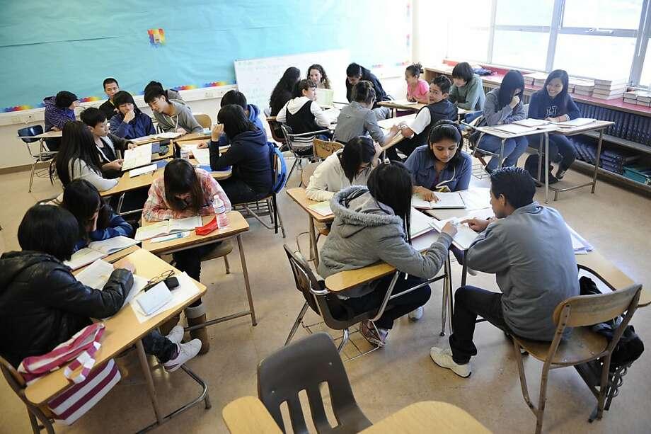 Amy Timmerman's classroom at the Thurgood Marshall High School in San Francisco. Photo: Megan Farmer, The Chronicle