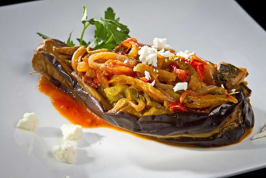 The stuffed Aubergine at Lokanta restaurant in Pleasanton, Calif., is seen on Friday, June 15th, 2012. Photo: John Storey, Special To The Chronicle