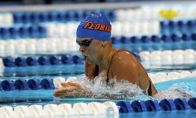 Elizabeth Beisel swims in the women's 400-meter individual medley preliminaries at the U.S. Olympic swimming trials, Monday, June 25, 2012, in Omaha, Neb. (AP Photo/David Phillip) Photo: Associated Press