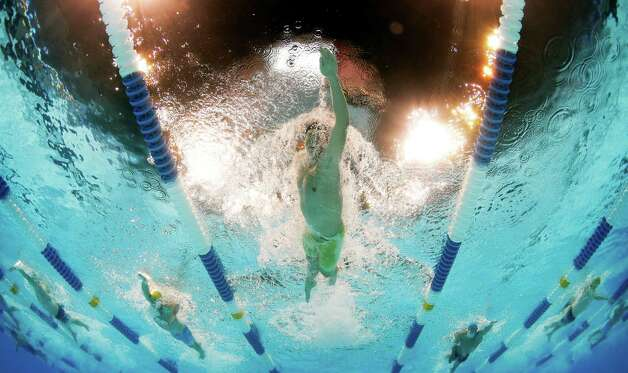 Matt McLean swims in the men's 400-meter freestyle preliminaries at the U.S. Olympic swimming trials, Monday, June 25, 2012, in Omaha, Neb. (AP Photo/David Phillip) Photo: Associated Press