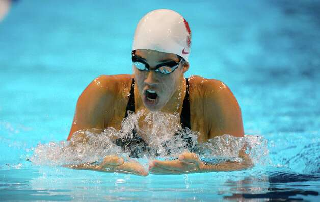 Maya Dirado swims in the women's 400-meter individual medley preliminaries at the U.S. Olympic swimming trials, Monday, June 25, 2012, in Omaha, Neb. (AP Photo/Mark J. Terrill) Photo: Associated Press