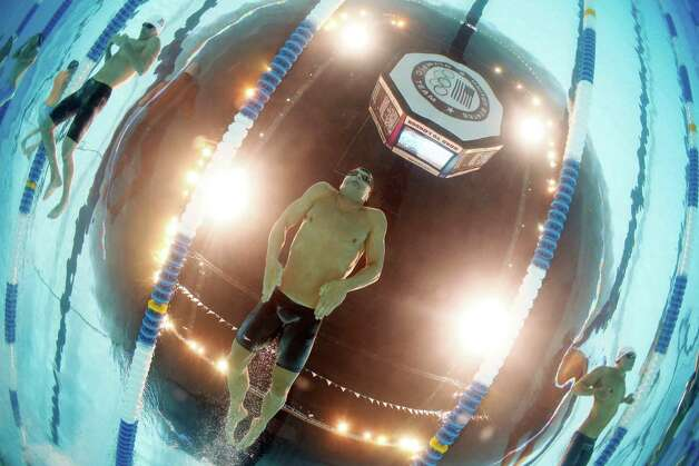 Brendan�Hansen swims in the men's 100-meter breaststroke preliminaries at the U.S. Olympic swimming trials, Monday, June 25, 2012, in Omaha, Neb. (AP Photo/David Phillip) Photo: Associated Press