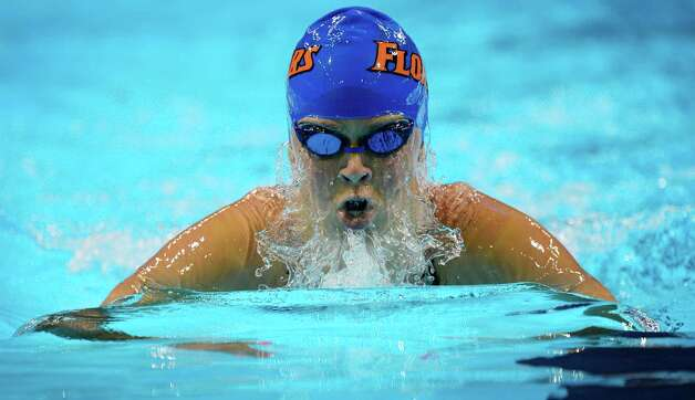 Elizabeth Beisel swims in the women's 400-meter individual medley final at the U.S. Olympic swimming trials, Monday, June 25, 2012, in Omaha, Neb. (AP Photo/Mark J. Terrill) Photo: Associated Press