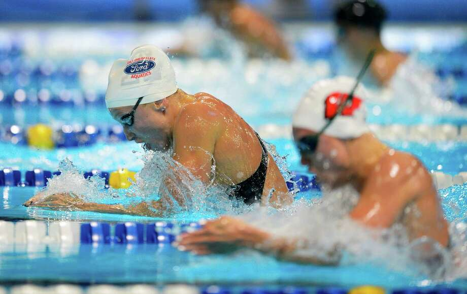 Annie Chandler finished fifth in the 100-meter breaststroke semifinals. She needs a top-two finish today to go to London. Photo: AP
