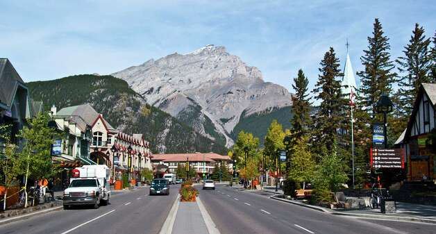 Cascade Mountain looms over the main street of Banff, Alberta, Canada. Photo: Joshua Trudell, For The Express-News