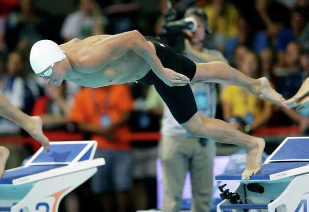 Ryan Lochte starts in the men's 200-meter freestyle preliminaries at the U.S. Olympic swimming trials, Tuesday, June 26, 2012, in Omaha, Neb. (AP Photo/David J. Phillip) Photo: Associated Press