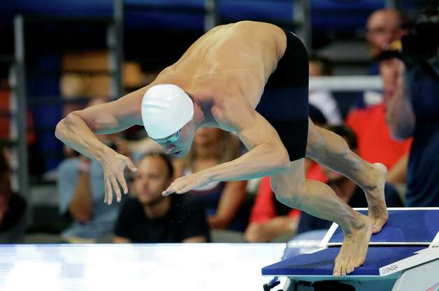 Peter Vanderkaay starts in the men's 200-meter freestyle preliminaries at the U.S. Olympic swimming trials, Tuesday, June 26, 2012, in Omaha, Neb. (AP Photo/David J. Phillip) Photo: Associated Press