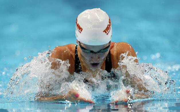 Jessica Hardy swims in the women's 100-meter breaststroke preliminaries at the U.S. Olympic swimming trials, Tuesday, June 26, 2012, in Omaha, Neb. (AP Photo/David J. Phillip) Photo: Associated Press