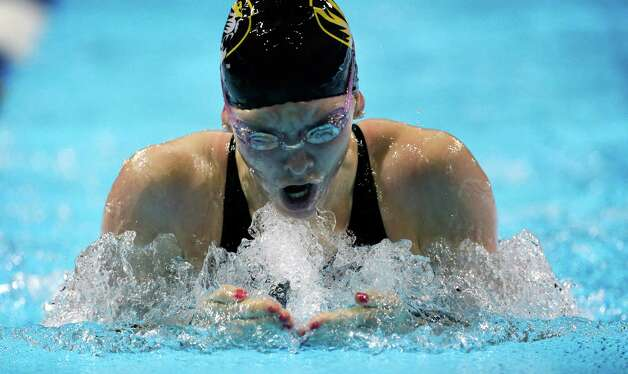 Rachel Ripley swims in the women's 100-meter breaststroke preliminaries at the U.S. Olympic swimming trials, Tuesday, June 26, 2012, in Omaha, Neb. (AP Photo/David J. Phillip) Photo: Associated Press