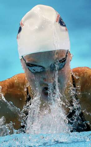 Annie Chandler swims in the women's 100-meter breaststroke preliminaries at the U.S. Olympic swimming trials, Tuesday, June 26, 2012, in Omaha, Neb. (AP Photo/David J. Phillip) Photo: Associated Press