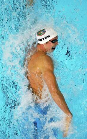 Conor Dwyer swims in the men's 200-meter freestyle preliminaries at the U.S. Olympic swimming trials, Tuesday, June 26, 2012, in Omaha, Neb. (AP Photo/Mark Humphrey) Photo: Associated Press