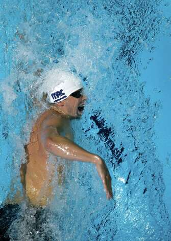 Matt�McLean swims in the men's 200-meter freestyle semifinal at the U.S. Olympic swimming trials, Tuesday, June 26, 2012, in Omaha, Neb. (AP Photo/Mark Humphrey) Photo: Associated Press