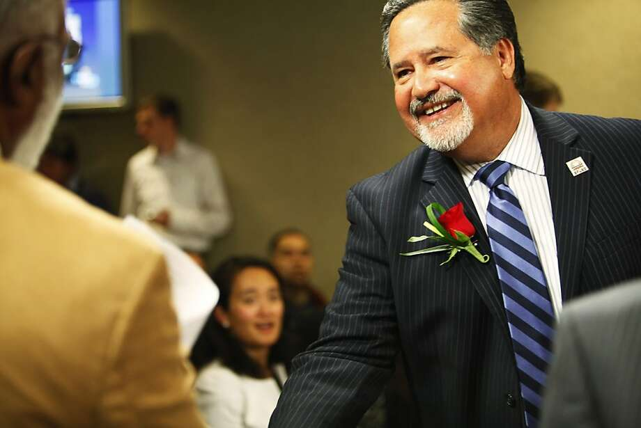 Superintendent Carlos Garcia is attending his last school board meeting in San Francisco, Calif. on Tuesday, June 26, 2012. Photo: Sonja Och, The Chronicle