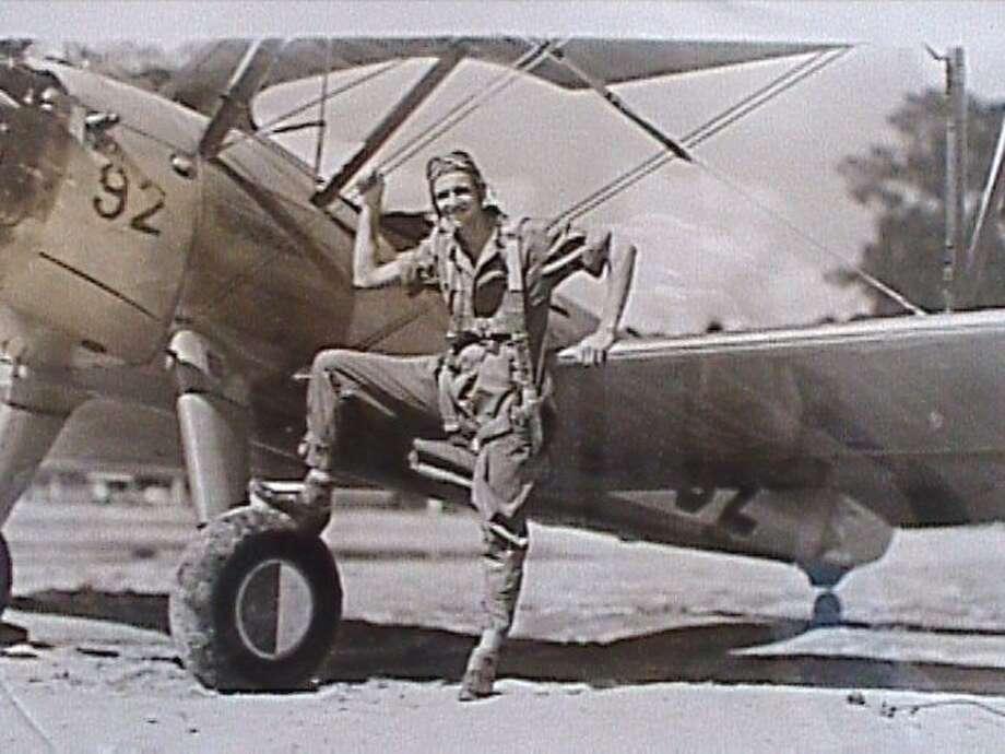 Then:Carl J. Dykman, Primary Flight School Graduation photo, Douglas, Ga., 1944 Photo: COURTESY