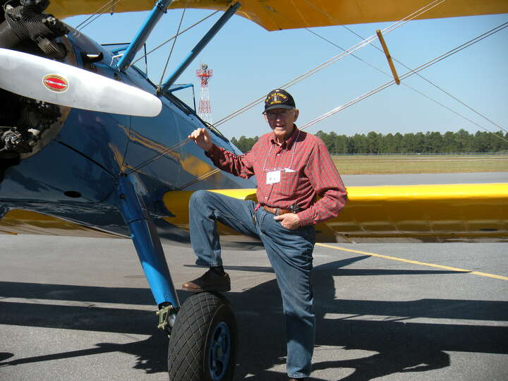 Carl J. Dykman, Maj. USAF (Ret) at the Primary Flight School Reunion, Douglas, Ga.,  2010. Dykman is