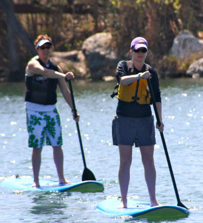 The Expedition School offers stand-up paddle boarding lessons in Austin. / handout email