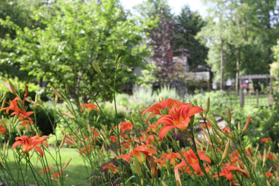 Judy Bodner of Rensselaer used fond childhood memories as an inspiration for her gardens, employing smaller dimensions and creating intentional surprises around each corner.  Read the story  here . Photo: Krishna Hill, Krishna Hill/Life@Home