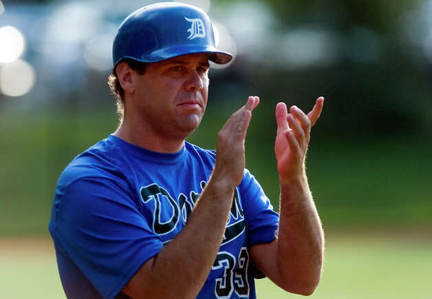 Darien/New Canaan's Head Coach John Miceli, during American Legion baseball action against Norwalk in Darien, Conn. on Tuesday June 26, 2012. Photo: Christian Abraham / Connecticut Post