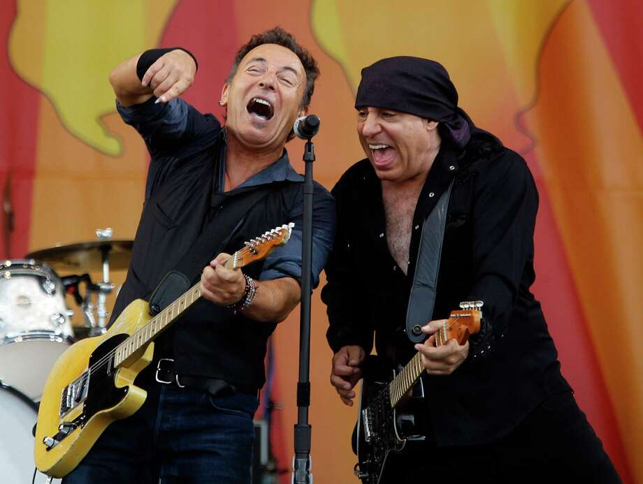 Bruce Springsteen and Steven Van Zandt perform at the 2012 New Orleans Jazz and Heritage Festival in April. Photo: AP