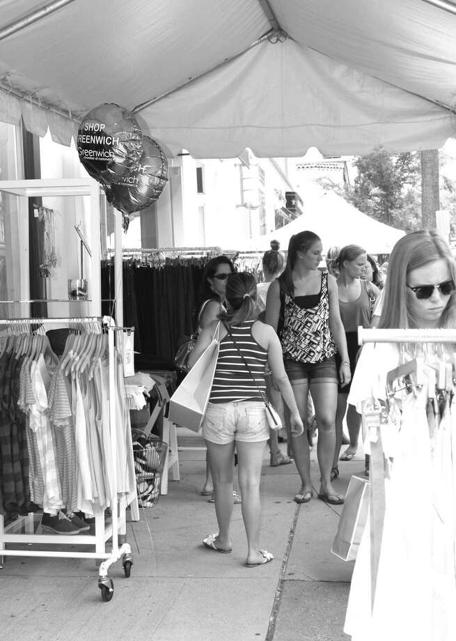 The popular Greenwich Sidewalk Sale Days will take place from July 12 to 15. Photo: Monika Satur Photography/Contrib