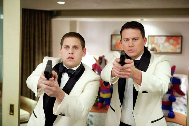 "Scott Garfield/Columbia Pictures Jonah Hill, left, and Channing Tatum star in Columbia Pictures' action comedy ""21 Jump Street."" Photo: Scott Garfield / © 2012 Columbia TriStar Marketing Group, Inc.  All Rights Reserv"