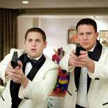 """Scott Garfield/Columbia Pictures Jonah Hill, left, and Channing Tatum star in Columbia Pictures' action comedy """"21 Jump Street."""""""