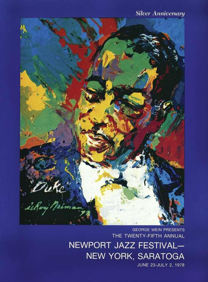 Saratoga Jazz Festival's first poster by Leroy Nieman