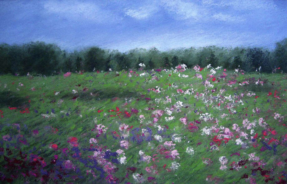 """""""Cosmos"""" by Eileen Serwer is featuted in 'Passion for Pastels' at Geary Gallery in Darien, Conn. Photo: Contributed Photo"""