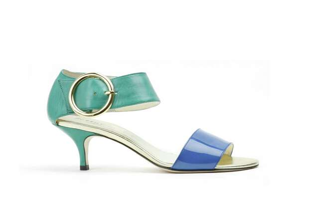 COLOR BLOCK: Bettye Muller?s Bridget, $355 at Tootsies or bettyemuller.com. Photo: Bettye Muller