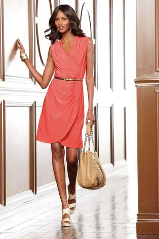 This Dana Buchman wrap dress has light, breathable fabric. (Kohl's, $66.) Photo: Kohl's