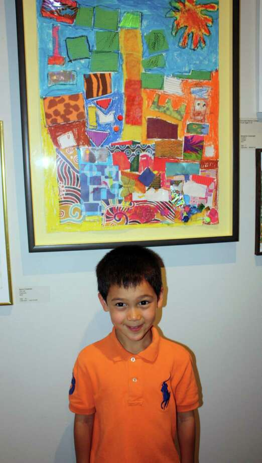 Benjamin Cavanagh received Honorable Mention for his Collage work ìuntitledî (ages 5-10) at Silvermine in New Canaan, Conn. Photo: Contributed Photo