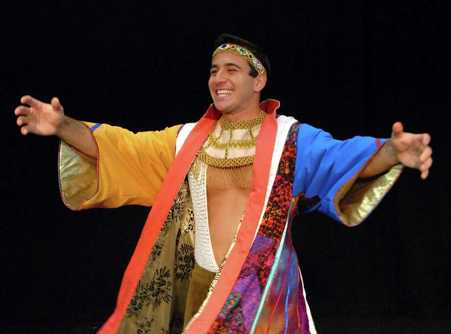 "Chris DeRosa, professional actor from Trumbull, as Joseph in Summer Theatre of New Canaan's performance of ""Joseph and the Amzing Technicolor Dreamcoat."" Photo: Contributed Photo"
