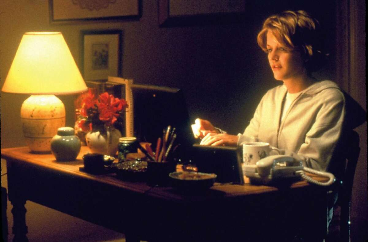 """This image released by Warner Bros. Home Video shows actress Meg Ryan in a scene from the romantic comedy """"You've Got Mail,"""" directed, co-written and co-produced by Nora Ephron. Publisher Alfred A. Knopf confirmed Tuesday, June 26, 2012, that author and filmmaker Nora Ephron died Tuesday of leukemia in New York. She was 71. (AP Photo/Warner Bros. Home Video)"""