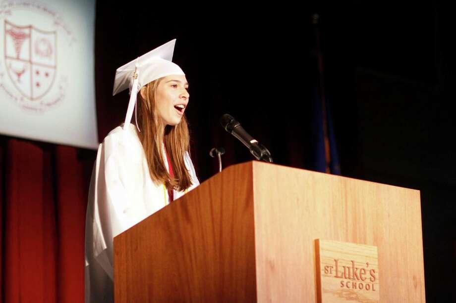 Lauren Pendo is St. Lukeís School salutatorian. New Canaan, Conn. Photo: Contributed Photo