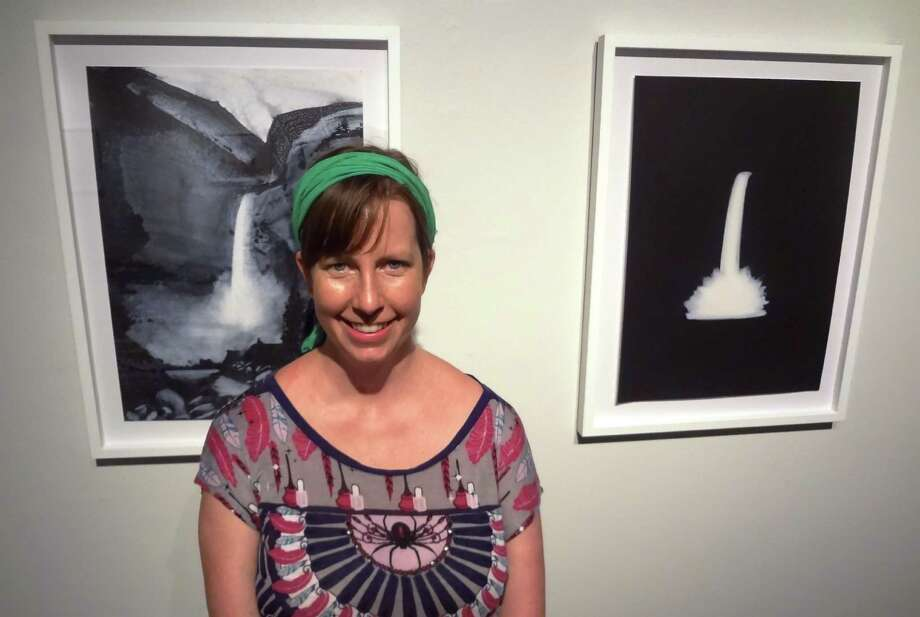"Images of symbolic waterfalls recur in San Antonio artist Joey Fauerso's ""Drama"" exhibition at the Southwest School of Art. Photo: STEVE BENNETT, SAN ANTONIO EXPRESS-NEWS / SBENNETT@EXPRESS-NEWS.NET"