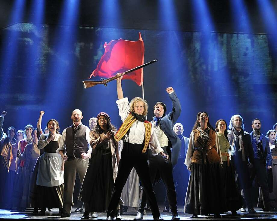 """One Day More"" - The Company of ""Les Miserables"" coming to Best of Broadway summer 2012, San Francisco. PHOTO BY: DEEN VAN DER MEER   Les MisŽrables by Cameron Mackintosh, opening night November 28 2010, Paper Mill Playhouse, 22 Brookside Dr., Millburn New Jersey with LAWRENCE CLAYTON (Jean Valjean) ANDREW VARELA (Javert) MICHAEL KOSTROFF (ThŽnardier) SHAWNA M. HAMIC (Mme. ThŽnardier) BETSY MORGAN (Fantine) JEREMY HAYS (Enjolras) CHASTEN HARMON (ƒponine) JUSTINE SCOTT BROWN (Marius) JENNY LATIMER (Cosette) RON SHARPE (Jean Valjean Alternate) Photo: Deen Van Der Meer"