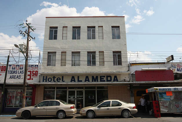 A view of the Hotel Alameda in Nuevo Laredo, where Zane Alejandro Plemmons was staying May 21 when he disappeared after leaving his room with his camera to document a shooting. Photo: Jerry Lara, San Antonio Express-News / © 2012 San Antonio Express-News