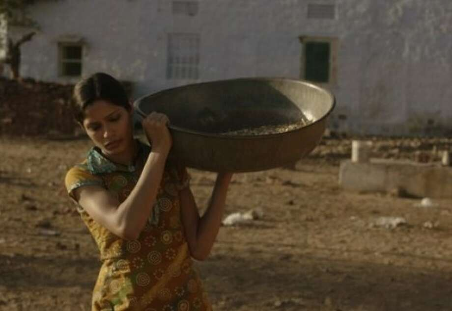 'Trishna' tells the story of one woman whose life is destroyed by a combination of love and circumstances. Set in contemporary Rajasthan, Trishna (Freida Pinto) meets a wealthy young British businessman Jay Singh (Riz Ahmed) who has come to India to work in his father's hotel business. Photo: Madman Entertainment