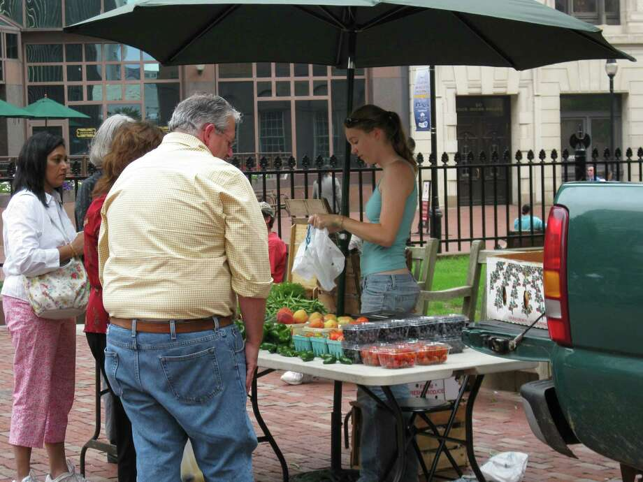 The Farmers Market at the Old State House in Hartford runs through Oct. 26, part of a tradition that dates to more than 350 years ago. Photo: Contributed Photo