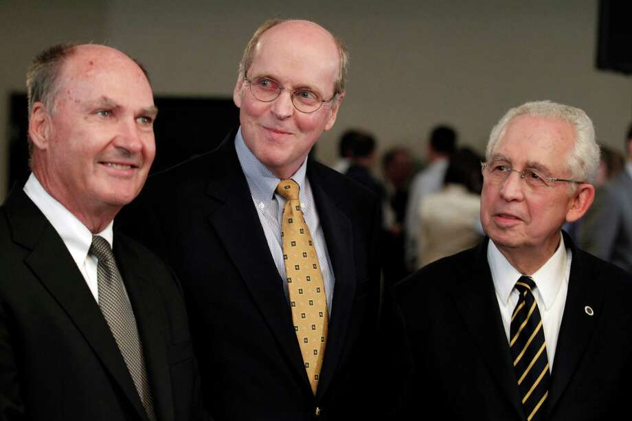Big Ten commissioner Jim Delany (from left), BCS executive director Bill Hancock and SEC commissioner Mike Slive could be future selection committee members for the playoff. Photo: AP