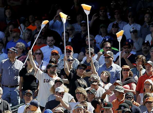 The crowd called for a sweep and got their wish. The San Francisco Giants beat the Los Angeles Dodgers 3-0 Wednesday June 27, 2012 at AT&T park. Photo: Brant Ward, The Chronicle