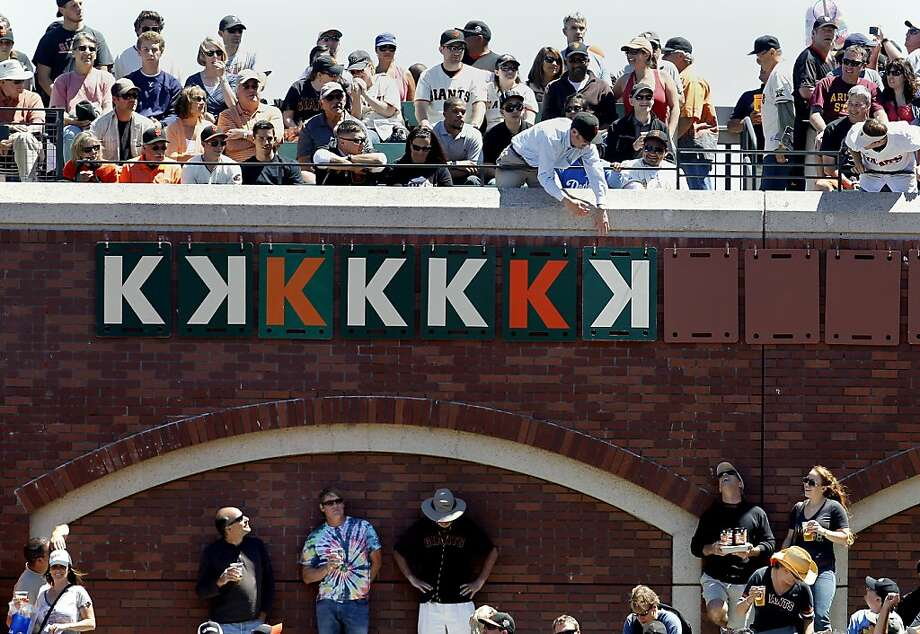Tim Lincecum gets his seventh strikeout in the sixth inning. The San Francisco Giants vs. the Los Angeles Dodgers in the last of a three game series Wednesday June 27, 2012 at AT&T park. Photo: Brant Ward, The Chronicle